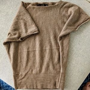 Merino boat neck sweater tee by the Limited S